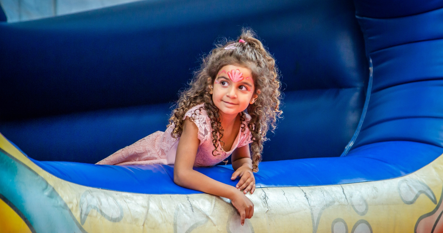 Event photography photo session Adinah 5th birthday at indoor playground Under the Sea Little Mermaid theme in Culver City Los Angeles California 08/20/2017