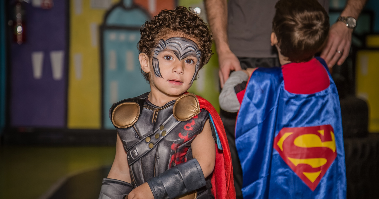 Event photography photo session third birthday party Noah Captain America superhero theme at GlowZone in Woodland Hills Los Angeles California 12/17/2017